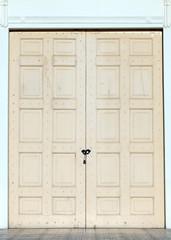 wood door with lock