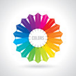 Color wheel. Vector illustration guide.
