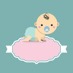 Baby Shower invitation card with baby