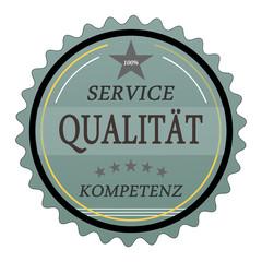 ql13 QualityLabel - Service Qualität Kompetenz - türkis g1788