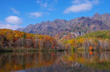 戸隠高原 鏡池の紅葉
