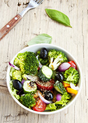 Healthy Vegetable Mixed Salad