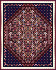 Design For Oriental Style Area Rug