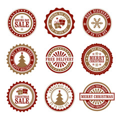 Christmas & Boxing Day Retail Badges