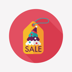 Christmas sale flat icon with long shadow, eps10