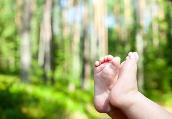 Babys feet outdoor