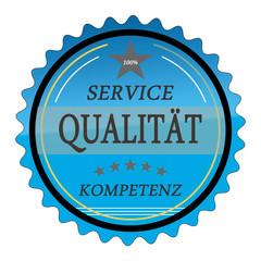 ql15 QualityLabel - Service Qualität Kompetenz - blau g1790