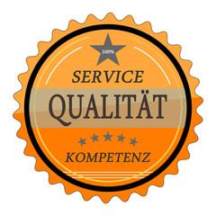 ql16 QualityLabel - Service Qualität Kompetenz - orange g1791
