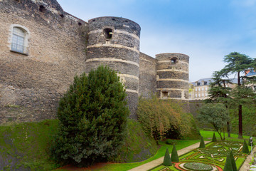 walls  of Angers castle, France
