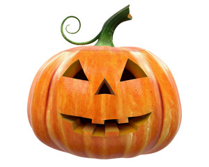 Halloween Pumpkin carving Jack-o-Lantern isolated