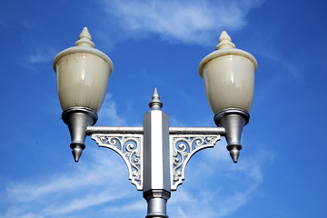 bangkok  street lamp in the sky   palaces  temple   abstract