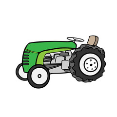 Tractor farming machine cartoon