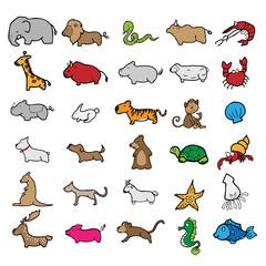 Animals character cartoon drawing