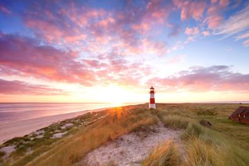 Morgenerwachen am Leuchtturm auf Sylt