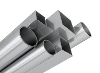 Stahl Rohre Profile aufsteigend