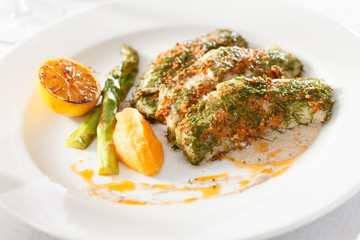 roasted fish with pumpkin