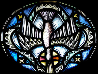The Holy Spirit (Dove) ins stained glass