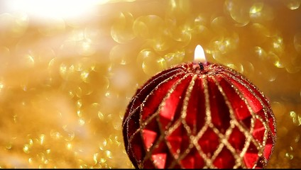 twinkle christmas background with candle