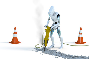 Robot with Jackhammer