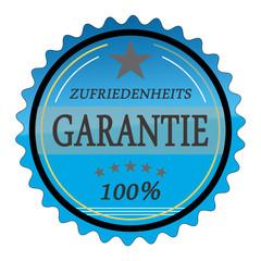 ql23 QualityLabel - Zufriedenheitsgarantie 1 - blau g1798