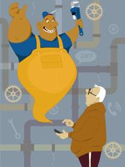 Calling plumber