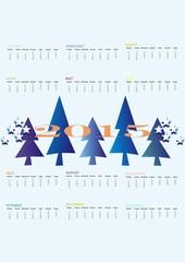 Calendar 2015, trees