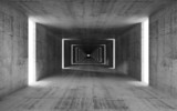 Fototapety 3d render, abstract empty gray concrete interior background