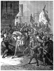 French King Henri IV : entering Paris - year 1594