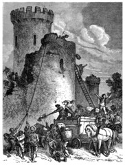 Destroying a Castle - 17th/18th century
