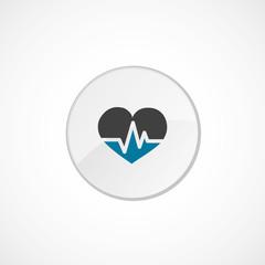 heart pulse icon 2 colored .