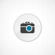 photo camera icon 2 colored .