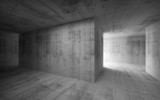 Fototapety Empty dark abstract concrete interior. 3d render illustration