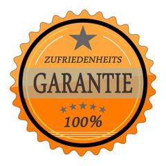 ql24 QualityLabel - Zufriedenheitsgarantie 1 - orange g1799