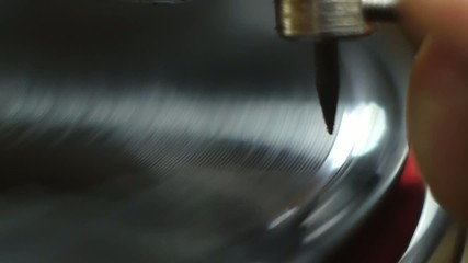 Stock Video Footage Vintage Gramophone