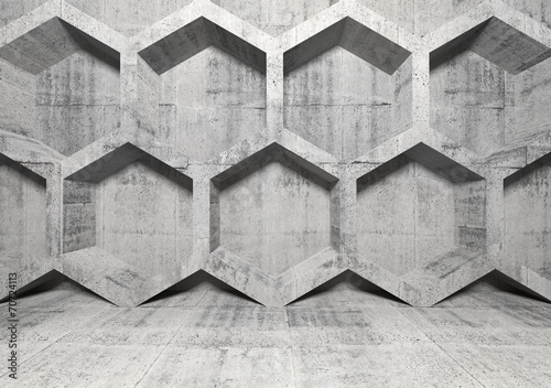 abstrakta-betonowy-wnetrze-z-honeycomb-struktura