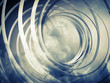 Monochrome abstract 3d toned spiral background with clouds