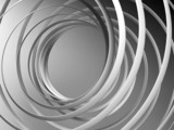 Fototapeta Monochrome abstract 3d spiral background
