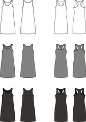Vector illustration of women's sport dress