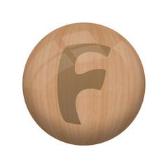 Boule de bois : F
