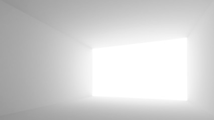 Abstract architecture background. Empty white room interior with
