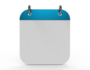 3d illustration of calendar with blank page