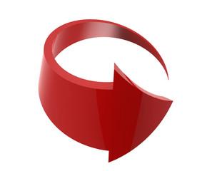 Red arrow.