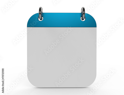 3d illustration of calendar with blank page - 70725100