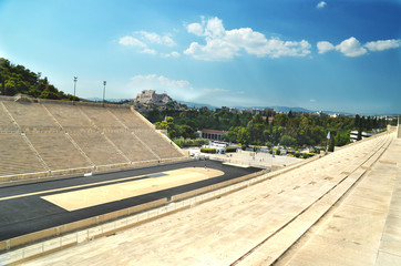 kalimarmaro stage - first new olympic game at 1896 in Athens