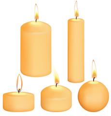 Set of candles. Illustration