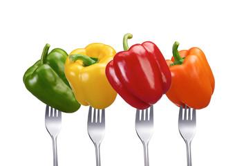 Vier Sorten Gemüsepaprika