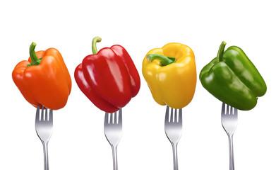 Vier Gemüsepaprikas