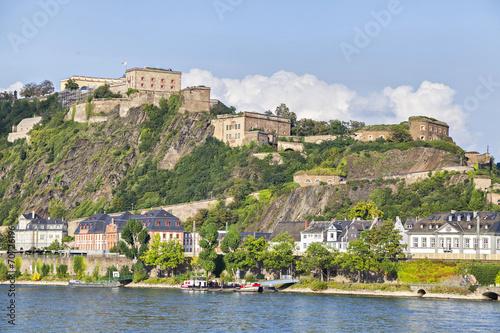 Foto op Plexiglas Vestingwerk Fortress Ehrenbreitstein in Koblenz
