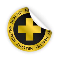 vector healthy product bent sticker