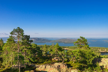 View to to ocea from Slattdalsskrevan, Ornskoldsvik, Sweden